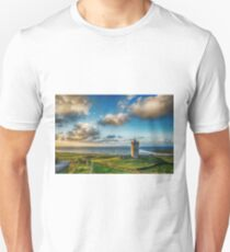 Doolin Castle Sunset Landscape County Clare Ireland T-Shirt
