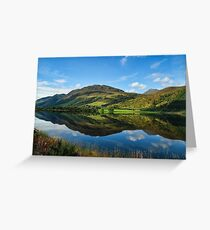 Lovely Scottish Scenic Landscape Reflection Greeting Card