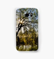Weeping Willow Sunrise Landscape Samsung Galaxy Case/Skin