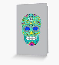 Sugar skull mexican folk art Greeting Card