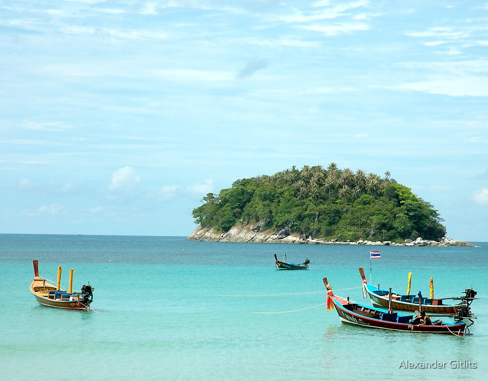 Tropical Island by Alexander Gitlits