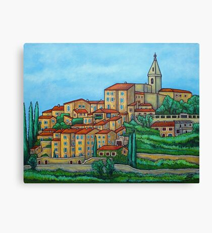Colours of Crillon-le-Brave, Provence Canvas Print