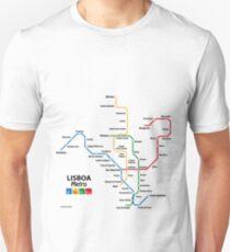 Lisbon metro network Unisex T-Shirt