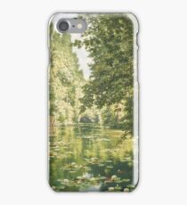 Henri Biva,  Water lilies on the Marne at Creteil iPhone Case/Skin