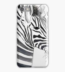 STRIPED - ZEBRA - WATERCOLOUR AND INK iPhone Case/Skin
