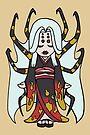 Spider Yokai Jorōgumo Playing Shamisen CHIBI MONSTER GIRLS Series I by angelasasser