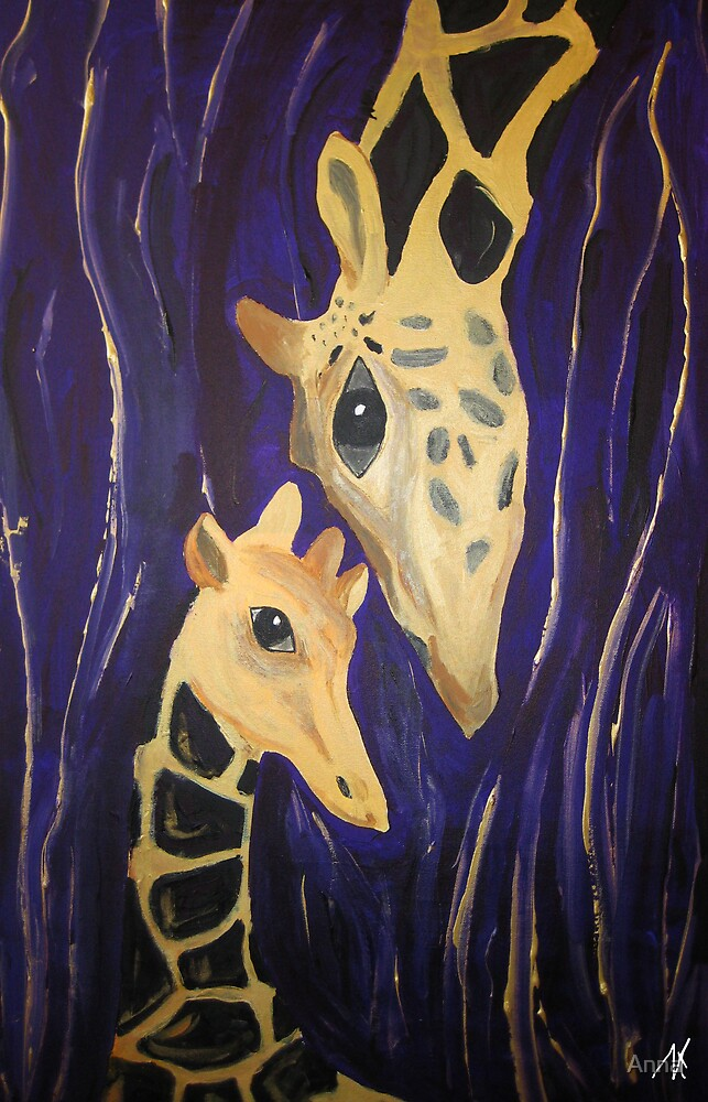 """""""Giraffe love"""" (2007) by Anna"""