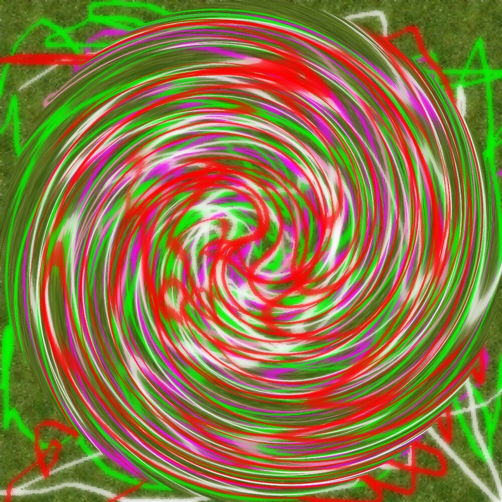 "GREEN RED ""SPIRALE"" by juliecat"