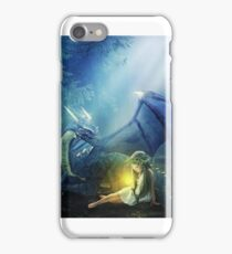 Girl with a dragon iPhone Case/Skin