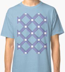 Purple Pixel life, gray, steel color bricks pattern Classic T-Shirt
