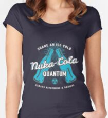 Fallout nuka cola quantum logo, Women's Fitted Scoop T-Shirt