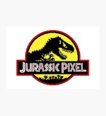 Jurassic Pixel (Yellow) Photographic Print