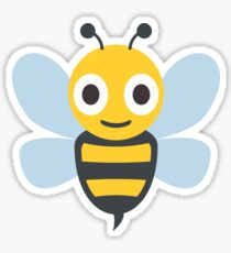 Cute Honey Bee, Wings Sticker
