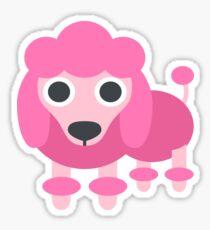 Pink Poodle, Best Friend Sticker