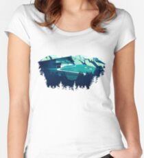 Alpine Hut Women's Fitted Scoop T-Shirt