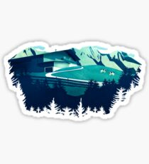 Alpine Hut Sticker