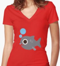 Cute Fish, Wildlife Women's Fitted V-Neck T-Shirt