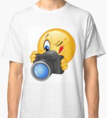 Cute and funny emoji photographer  Classic T-Shirt