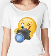Cute and funny emoji photographer  Women's Relaxed Fit T-Shirt