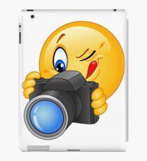 Cute and funny emoji photographer  iPad Case/Skin