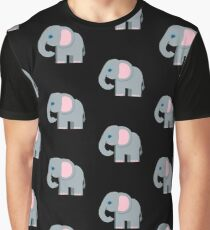 Cute Elephant, African Wildlife Graphic T-Shirt