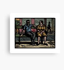 Chatting Canvas Print