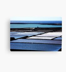Salt Flats Lanzarote Spain Canvas Print