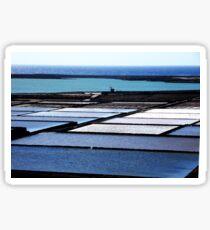 Salt Flats Lanzarote Spain Sticker