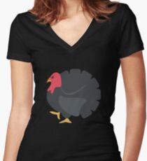 Turkey, Thanks Giving Women's Fitted V-Neck T-Shirt