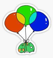 Balloon Chameleon Sticker