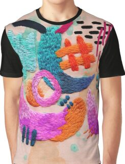 abstract embroidery Graphic T-Shirt