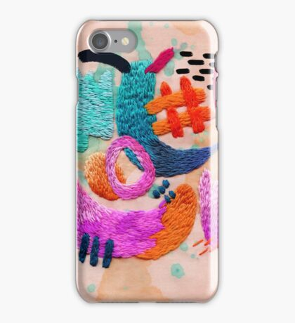 abstract embroidery iPhone Case/Skin