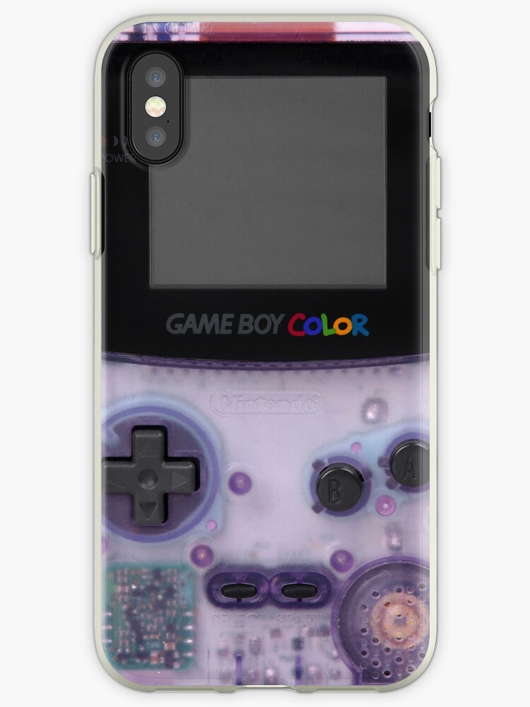 lowest price 975f1 a23f4 'Purple translucent gameboy color' iPhone Case by shrekberg