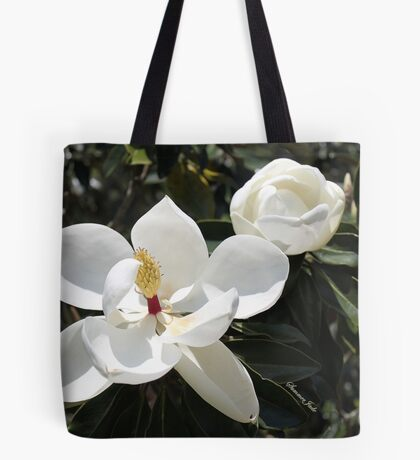 High in a Magnolia Tree ~ Blooms Tote Bag