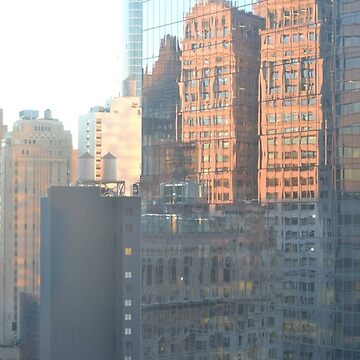 Downtown NYC Reflections by LWPerez