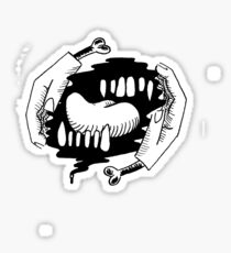 hands teeth tongue Sticker