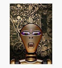 Golden Robot Photographic Print