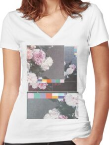 Power, Corruption & Lies collage Women's Fitted V-Neck T-Shirt