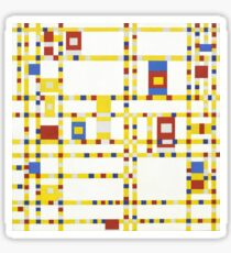Piet Mondrian Broadway Boogie Woogie Sticker