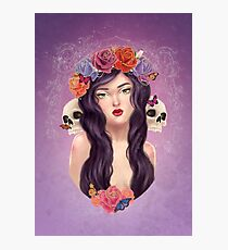 Skulls and Roses Photographic Print