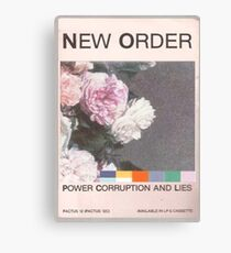 Power, Corruption & Lies whitewashed Canvas Print