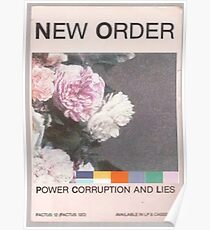 Power, Corruption & Lies whitewashed Poster