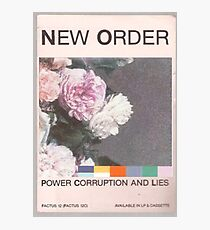 Power, Corruption & Lies whitewashed Photographic Print