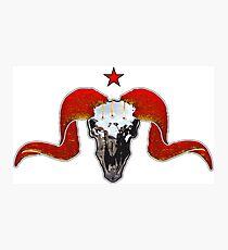 Turbo Ram Skull Photographic Print