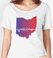university of dayton (watercolor) Women's Relaxed Fit T-Shirt