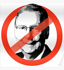 NO MITCH MCCONNELL Poster