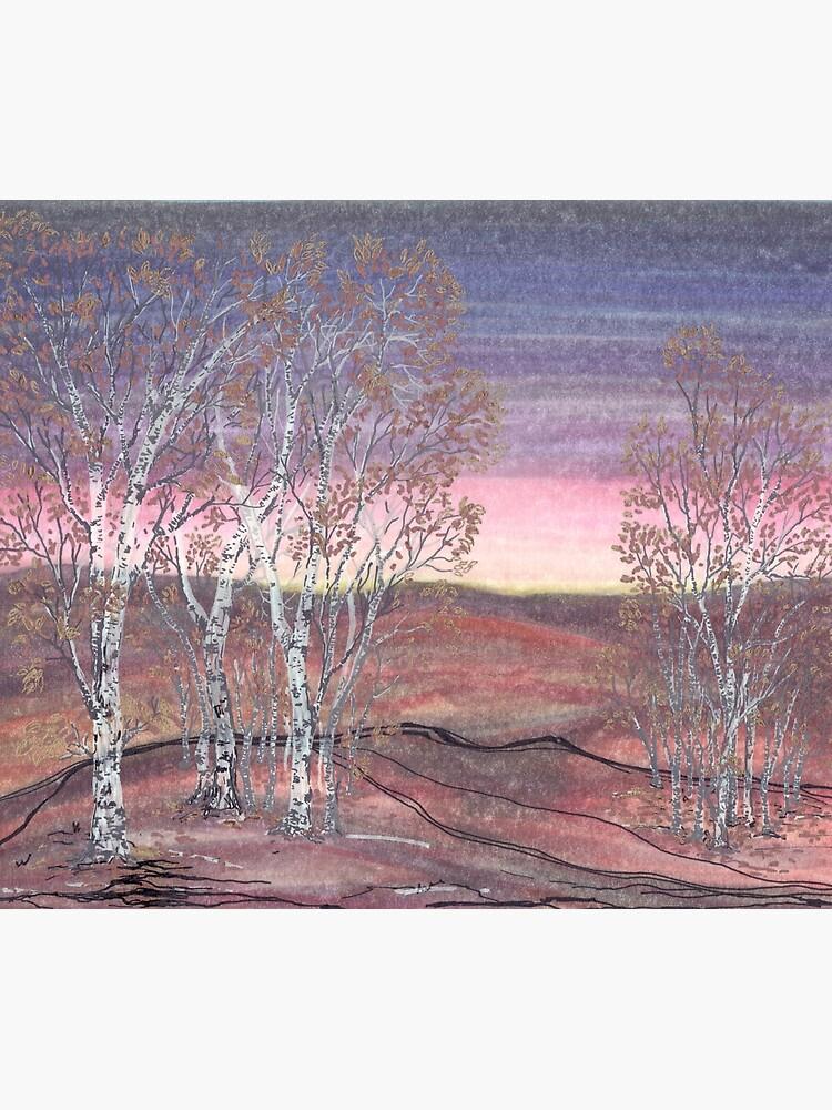 Birches at Dawn by rvalluzzi