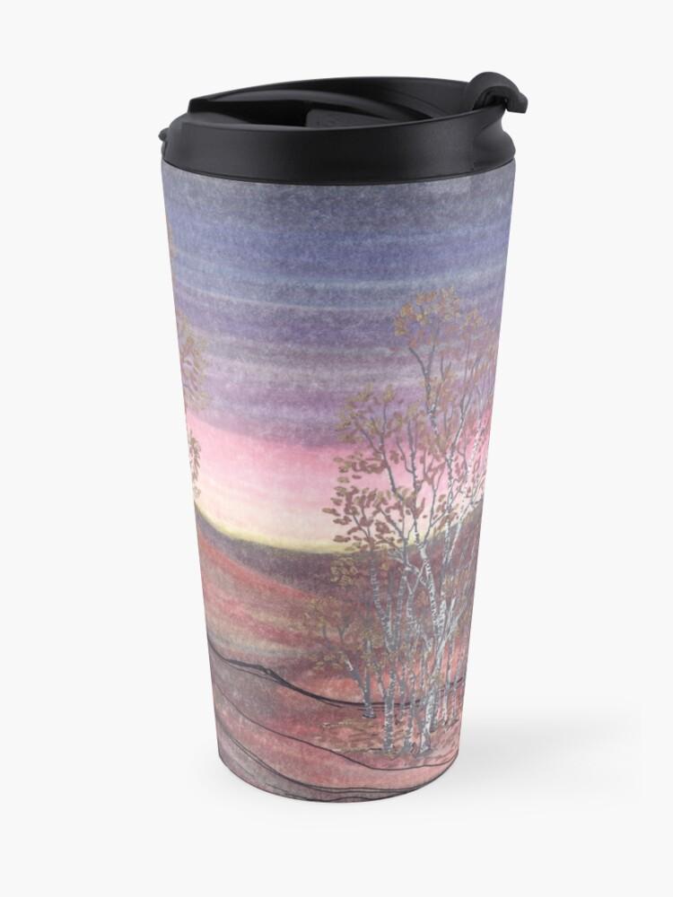 Alternate view of Birches at Dawn Travel Mug