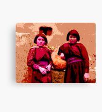 Two Hopi Girls Canvas Print
