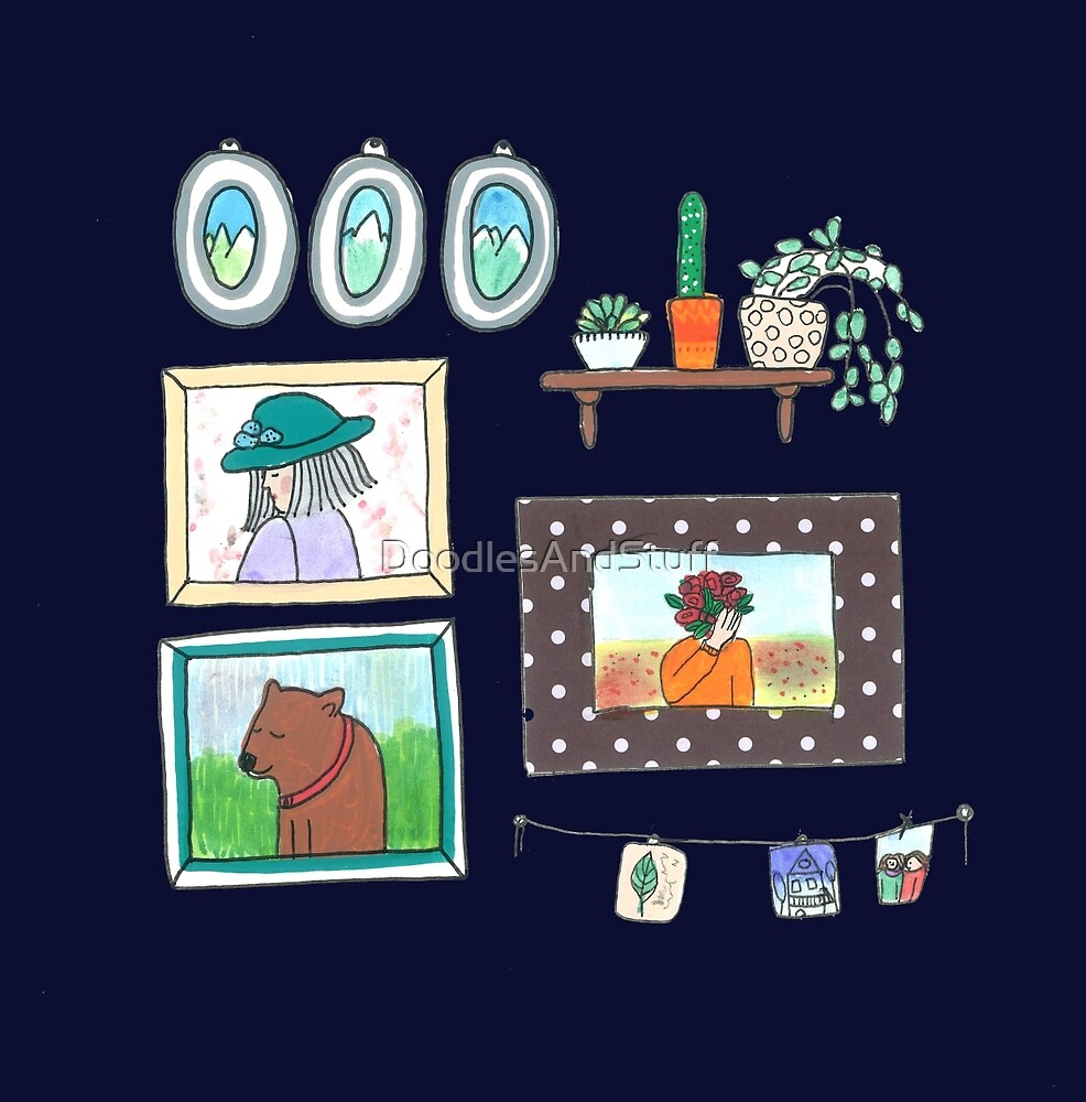 Wall Decorations by DoodlesAndStuff